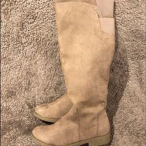 Women's revel tan knee high boots size 11